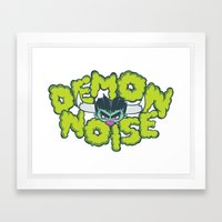 Demon Noise Framed Art Print