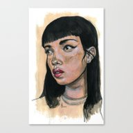 Canvas Print featuring Candy Girl by L'Atelier KALEB