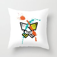 Splatoon - Turf Wars 4 Throw Pillow