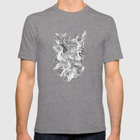 The Six Swans Mens Fitted Tee Tri-Grey SMALL