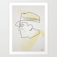 One Line Dick Tracy Art Print
