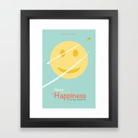 Hector and the search for happiness - minimal poster Framed Art Print