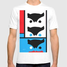 Modern Watcher White SMALL Mens Fitted Tee