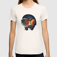 Angry Lion Womens Fitted Tee Natural SMALL