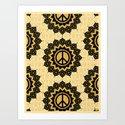 Peace Mandala Pattern Print Art Print