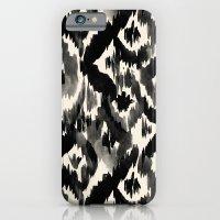 Black Ikat Diamonds iPhone 6 Slim Case