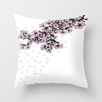 Sakura Cherry Blossom Throw Pillow