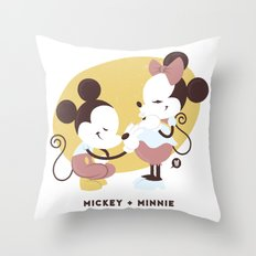 Disney Dads: Mickey + Mi… Throw Pillow