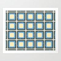 Talking Box Pattern Art Print
