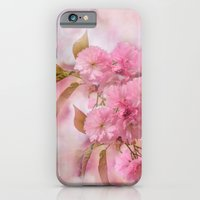 iPhone & iPod Case featuring Pink blooms by LudaNayvelt