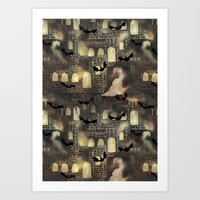 haunted castle Art Print