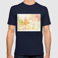 Memories of Autumn Mens Fitted Tee Navy SMALL