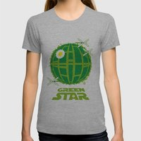 Green Star Womens Fitted Tee Athletic Grey SMALL