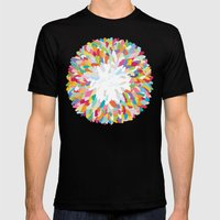 fizzy feathers Mens Fitted Tee Black SMALL