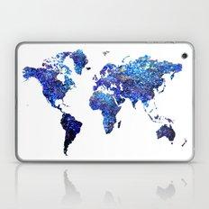 World Map Blue Purple Laptop & iPad Skin