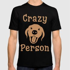 Crazy Dog Person [FOR WHITE] Mens Fitted Tee Black SMALL