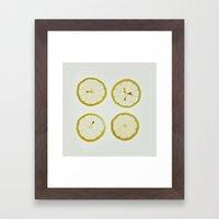 Lemon Square Framed Art Print