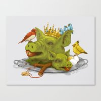 Furious Fowl Canvas Print