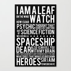 Firefly Subway Poster Canvas Print