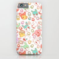 iPhone Cases featuring DigiDogs by Lindsey Lea
