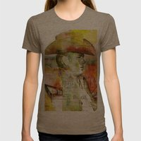 The journey of James D. Womens Fitted Tee Tri-Coffee SMALL