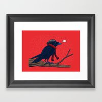 Annoyed IL Birds: The Crow Framed Art Print