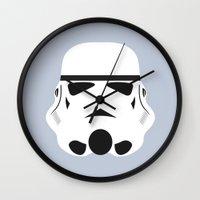 Star Wars Minimalism - Stormtrooper Wall Clock