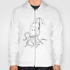 Octopus and Umbrella - outline Hoody
