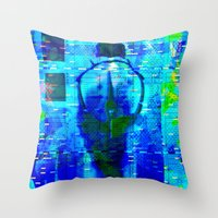 No Way No How < The NO Series (Blue) Throw Pillow