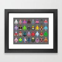 Pixel Luchadores Framed Art Print