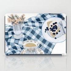 Still life with blueberry pie iPad Case