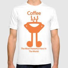 The Coffee Mens Fitted Tee White SMALL