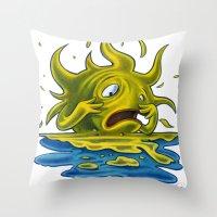 Scared Sunset Throw Pillow