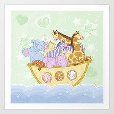 Noah's Ark (Green) Art Print