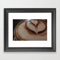 Hot Chocolate Flower Framed Art Print