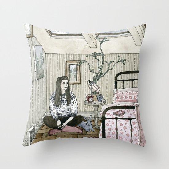 Girls bedroom Throw Pillow