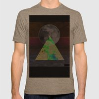 Cosmic Beach Mens Fitted Tee Tri-Coffee SMALL