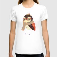 owl T-shirts featuring  Owl by Ashley Percival illustrator
