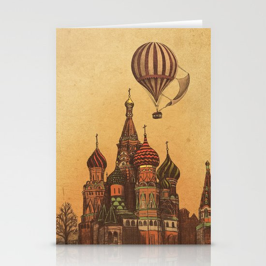 Moving to Moscow Stationery Card