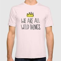Wild Things Mens Fitted Tee Light Pink SMALL