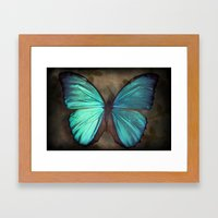 Vintage Butterfly Framed Art Print