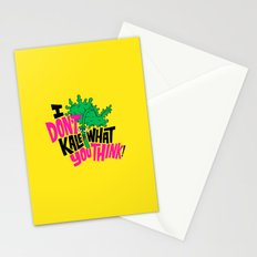 I Don't Kale What You Think. Stationery Cards