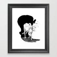 COW IS GOD Framed Art Print