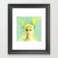 Floral Woman Framed Art Print