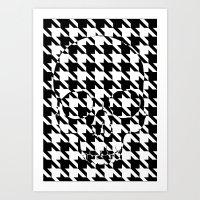 HOUNDSTOOTH SKULL #2 Art Print
