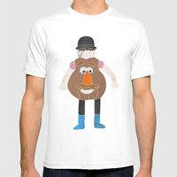 Mr Potato Head Mens Fitted Tee White SMALL