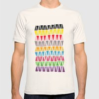 Triangle Pattern Mens Fitted Tee Natural SMALL