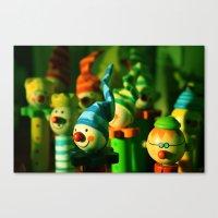 Happy crayons  Canvas Print