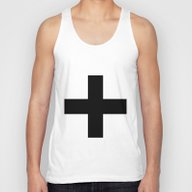Black Plus On White /// … Unisex Tank Top