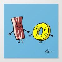 Bacon Pineapple Canvas Print